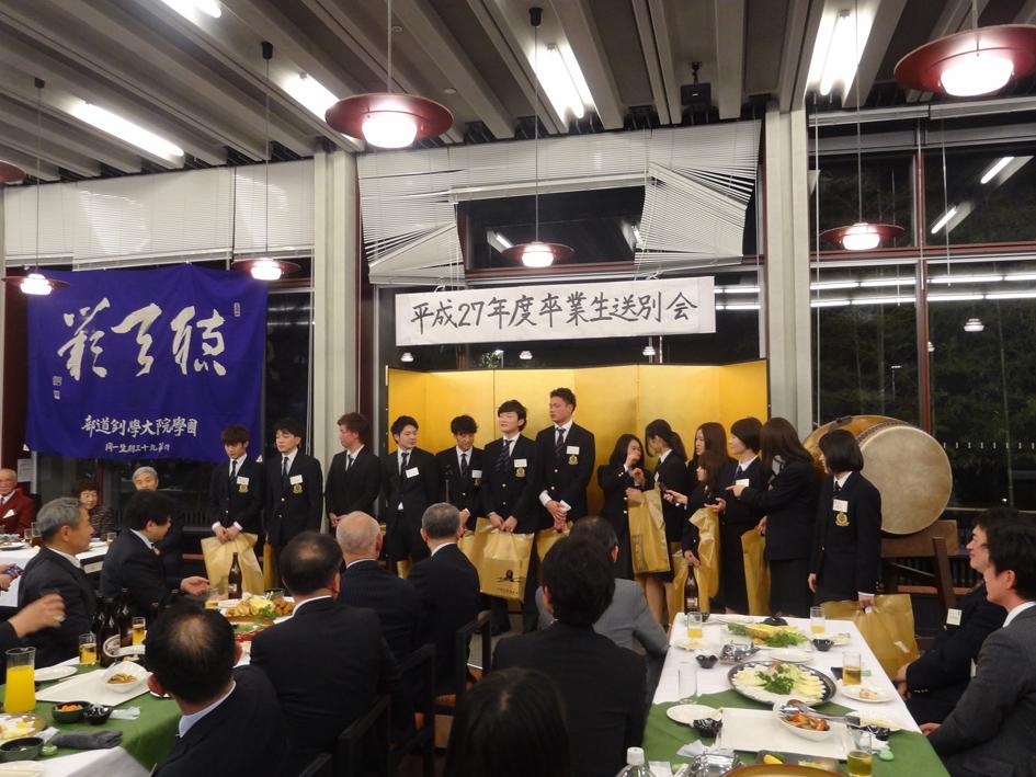 H27年度卒業生送別会(卒業生)